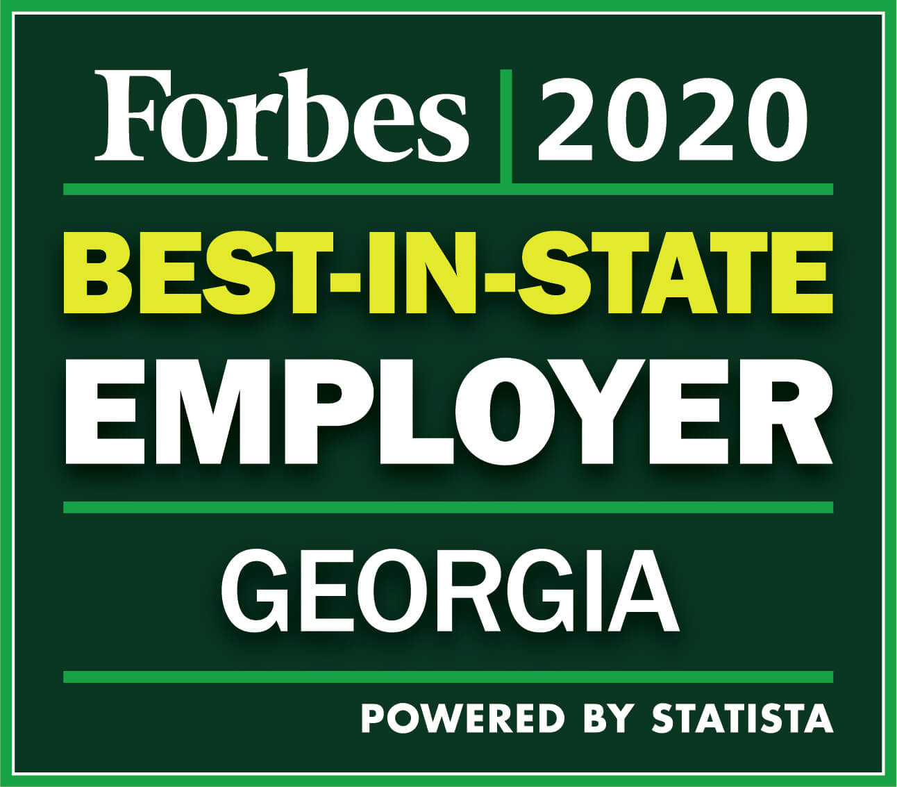 Forbes 2020 | Best-In-State Employer | Georgia